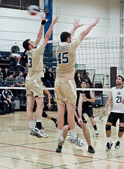 Domenic Noto #13 and Max Guillaume #45- UC Davis Men's Varsity I Volleyball (Don Eng) Tags: mens volleyball ucdavis sacstate 2213 varsityi