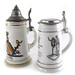 3012. (2) German Porcelain Steins