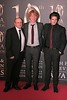 Lenny Abrahamson, Domhnall Gleeson and Francois Civil at Irish Film and Television Awards 2013 at the Convention Centre Dublin