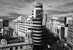 MADRID (guillermoverdu) Tags: madrid city bw espaa europa ciudad ole via spanish gran realmadrid sweppes cinescallao calllao guillermoverdu