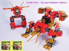 Kai's Fire - Quad Walker (Bricksky) Tags: red fire lego quad walker mech moc ninjago