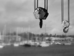 Another Preston Docks crane picture (Tony Worrall) Tags: old uk england urban metal docks boats boat northwest image crane  north dirty tony lancashire chain preston hang relic lancs boathook worrall 2013 prestondocks ashtononribble prestonian 2013tonyworrall