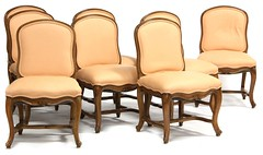18. Set of 8 French Country Upholstered Dining Chairs