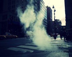 Steam on a New York City street (JayCass84) Tags: street nyc newyorkcity ny newyork streetphotography steam streetview instagram instagramapp