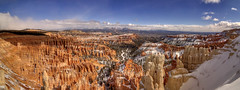 Inspiration Point panorama, Bryce Canyon National Park, Garfield Co, UT (Chuck Sutherland) Tags: inspirationpoint panorama snow sky clouds sandstone hoodoos brycecanyonnationalpark brycecanyon nationalpark bryce np garfieldcounty garfield utah ut sedimentaryrock