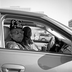 (patrickjoust) Tags: baltimore maryland martinlutherkingjrparade superricohflex fujifilmneopan100acros developedinrodinal man car driving tlr twin lens reflex 80 f35 ricoh 120 6x6 medium format fuji black white bw home develop film blancetnoir blancoynegro schwarzundweiss manual focus analog mechanical patrick joust patrickjoust md usa us united states north america estados unidos autaut people person parade celebration