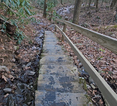 narrow stone steps Photo