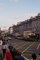 Union Street from the Music Hall, 1984 (Taysider64) Tags: urban buses streetscene aberdeen granite shops shoppers leylandatlantean