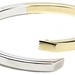 1011. Two Color Gold Bangle Bracelet