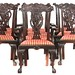 114. Set of 10 Mahogany Chippendale Style Dining Chairs
