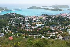 Charlotte Amalie (Disorderly) Tags: charlotteamalie charlotte amalie city harbor port docks islands ships cruiseships cruise trees bushes foliage vegetation houses homes hills landscape stthomas virginislands island vista scenic tropics tropical bahamas caribbean