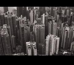Traffic jam (cdolls) Tags: blackandwhite hk building film 35mm hongkong hongkongbay