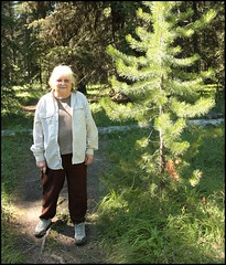Mom Poses For A Pic (greenthumb_38) Tags: canada reunion rockies canadian alberta 2012 canadianrockies jeffreybass august2012 moseankoreunion