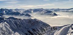 Alps from Nebelhorn (sonic.knight) Tags: schnee winter panorama snow ski mountains alps clouds bayern bavaria skiing horizon wolken berge alpen horizont oberstdorf nebelhorn gipfel
