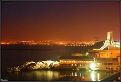La rade (Florette Photographie) Tags: france night port restaurant marseille tour spot bynight su poisson nuit plage ville sud cma massilia rade epuisette