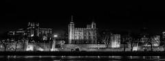 Tower of London (B&W) (redddraggon) Tags: red cold london tower westminster saint thames river square phone box tube trafalgar pauls february icicles whitehall 2013 d700