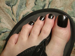 Zoya - Raven (toepaintguy) Tags: black male men guy feet foot shiny toes toe masculine nail polish nails gloss mna lacquer