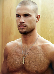 83 (rrttrrtt555) Tags: hairy muscles hair beard goatee necklace chest chain buzzcut stubble