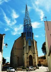 Eglise Notre Dame de Marans, 1900-1988 (thierry llansades) Tags: architecture notredame 17 vendee marais 85 eglise chapelle charente capilla lucon esglesia marans saintonge charentemaritime poitevin aunis iledelle