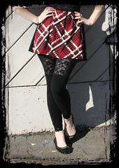 Black Lace Panel Leggings (derangeddesigns) Tags: black lace leggings