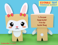 Printable Kawaii Girl Bunny Rabbit Gift Box With Editable Text Features - Personalize Yourself (Cutezville Printables) Tags: pink flowers blue boy cute rabbit bunny green girl kids digital yard butterfly garden paper easter print grey design diy day drawing text lawn butterflies craft card gift elements kawaii download eggs pdf treat create etsy build favor greeting making development bows template edit hunt papermaking personalize giftbag giftbox printables printable cutesville changeable editable personalise papergoods treatbox cuteideas paperelements cutezville
