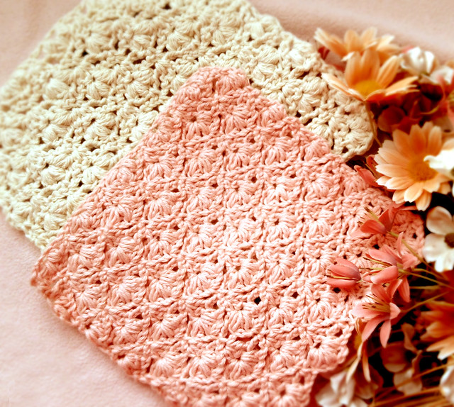Kitchen Crochet Patterns featured by top US crochet blog, Flamingo Toes: flower dishcloth