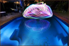 The waters fine...? (Andy Keys) Tags: longexposure blue lightpainting reflection pool orb australia christmaslights queensland