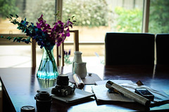 Stillness (maimu-93) Tags: life camera house flower magazine table photography photo still sunday craft fresh everyday everydaylife beautifullife lifestill canon550d