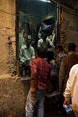 The Hole In The Wall Is Where It's At (alisdair jones) Tags: street food india men cooking delhi doorway canonef35mmf14l