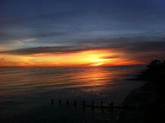 Worthing by Iphone (JK x) Tags: ocean sunset sea sky sussex coast worthing shore groynes