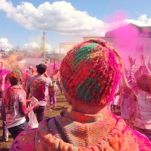 So many people from different nationality joined in to the color riot. A dip into the colors makes us all same. One color, one religion of humanity, colorful times #fromwhattheysee  Happy #Holi
