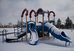 Snowy Playground (kimindergand) Tags: park winter snow playground colorado snowstorm parks aurora snowfall winterwonderland