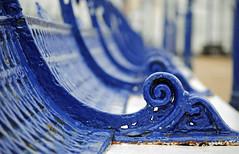 Eastbourne Pier (vic_burton) Tags: wood old blue beach metal bench pier seaside paint seat worn eastbourne eastsussex eastbournepier