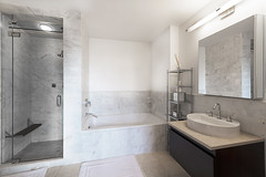Bathroom FOR WEB (rjsnyc2) Tags: chelsea realestate oculus remax 9c