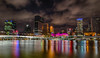 Brisbane Skyline taken from Southbank (sandynfowler) Tags: longexposure bridge water skyline buildings reflections river landscape lights nightscape australia brisbane southbank queensland southbrisbane brisbaneriver hdr canon6d flickraward5