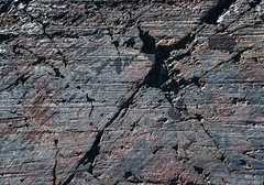 Scoured (zh3nya) Tags: highsierra hiking geology rock glacial texture abstract stone metamorphic d750 sigma35mmf14