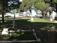 Port Elliot. The Catholic cemetery. A church was built here in 1866, closed in 1921 and demolished in 1936. (denisbin) Tags: southcoast portelliot cemetery catholic steamranger train diesel dieseltrain store theregistry carriage sar traincarriage