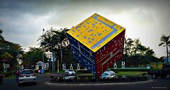 Cube Balance (Anwarrovic) Tags: sculpture art icon statue environment landscape park outdoor surabaya