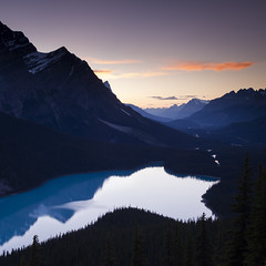 Peyto Sunset (andrewpmorse) Tags: peytolake banffnationalpark banff mountains lake sky sunset landscape reflection canada alberta rockies rockymountains canon 6d leefilters lee06ndgradsoft lee09ndgradhard