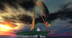 Sailing in the Sunrise Light (Wildstar Beaumont) Tags: 2016 nautilus secondlife sl