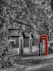 The Past Calling (darrenball189) Tags: box telephone british red england booth uk phone english traditional old vintage retro street kingdom united britain urban call history exterior public landmark outdoors icon pay illustration great historic classic mono black white selective colour splashesofcolor color nikon d7200 tamron 60mm teversal nottinghamshire