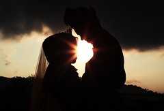 Silhouettes of couple against the sunrise.top hill. Vintage photo. (ImanMiqael) Tags: husband hipster outdoor cross photo meadow hands two silhouette human woman sunset landscape nature freedom sky people beach sport future man sunrise beautiful silhouettes one beauty person light background female solitude lonely sad dream healthy eternity lifestyle young new sunlight standing dusk god happy muslim islam couple wife wedding love women men lake live