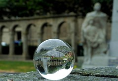 Saint Malo (Hellodelyon) Tags: nikoncoolpixp7100 saintmalo bretagne breizh illeetvilaine ctedemeraude ball boule cristal crystalball intramuros brittany sphere