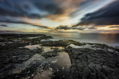 4 Elements (Crouchy69) Tags: sunset dusk landscape seascape ocean sea water coast clouds sky basalt rocks long exposure lighthouse beach bunbury western australia