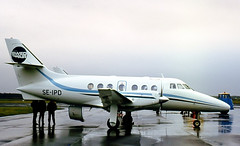 SE-IPD. Swedair British Aerospace Jetstream 3110 (Ayronautica) Tags: 1984 december 641 scanned ayronautica aviation turboprop pik egpk prestwick britishaerospacejetstream3110 swedair seipd