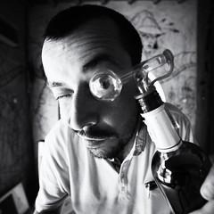 selfie (polo.d) Tags: selfie portrait autoportrait noir pastis bottle alcool alcohol bw monochrome dose anis ricard