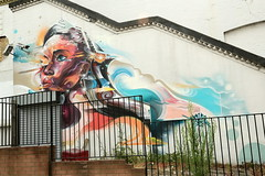 mr cenz (Luna Park) Tags: london england uk streetart mural production mrcenz woman lunapark woodstreetwalls walthamstow