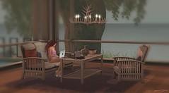 647  Lazy Sunday Afternoon (Sannita_Cortes) Tags: secondlife sl styles fashion female furniture decoration analogdog ikon tashi essenz otb outsidethebox swank
