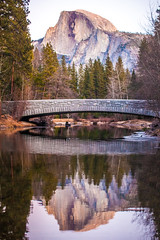 January (Thomas Hawk) Tags: america california nationalpark usa unitedstates unitedstatesofamerica yosemite yosemitevalley bridge reflection river water fav10 fav25 fav50