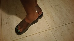 Dark smoke platform jellies. #jellyshoes (ARTHENTIC) Tags: jellyshoes jellies footfetish sexylegs sexyfeet shoeporn